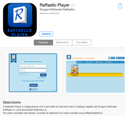 e installa raffaello player